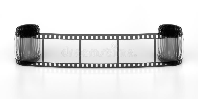 filmstrip obramia trzy fotografia stock