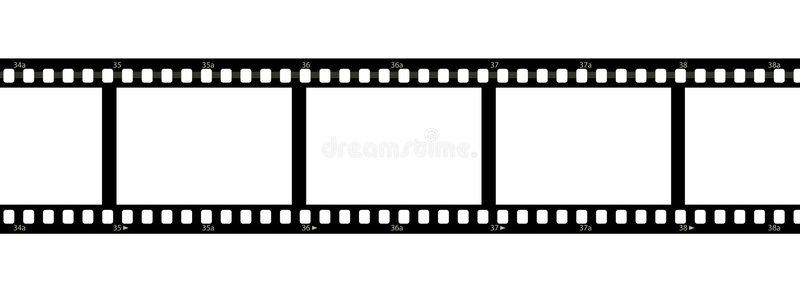 Filmstrip Over White Background Stock Image