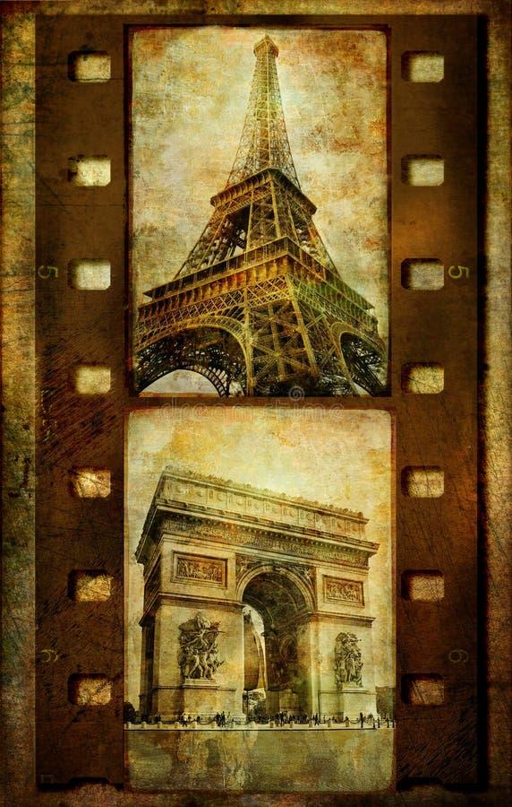 filmstrip Paris retro ilustracji