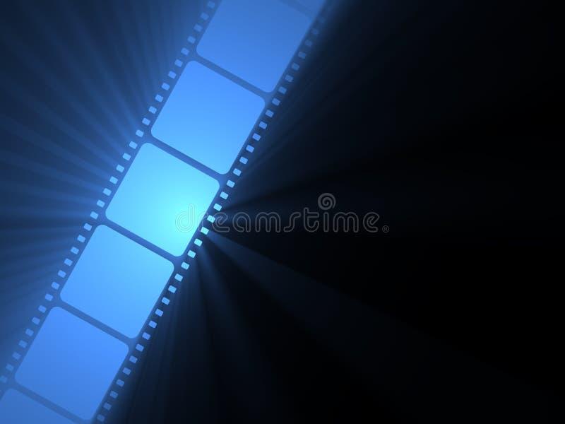 Filmstrip Sonneaufflackern-Filmbandspule lizenzfreie abbildung