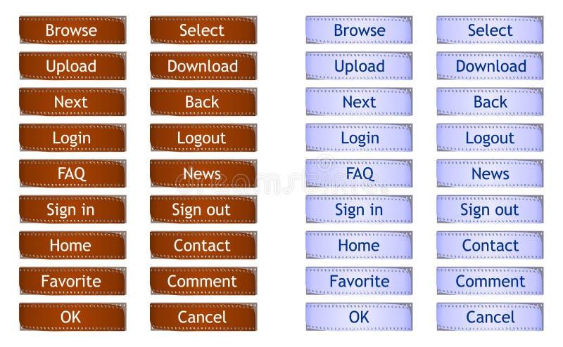 Download Filmstrip Web Buttons - Cdr Format Stock Vector - Illustration: 33772833