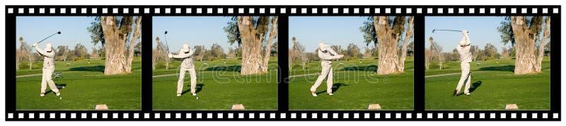 filmstripgolf fotografering för bildbyråer