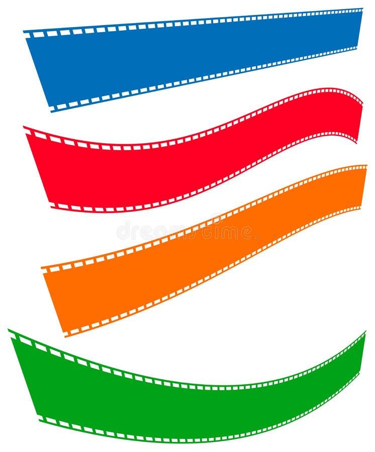 Download Filmstrips для фотографии, мультимедиа или родственных тем Иллюстрация вектора - иллюстрации насчитывающей вьюрок, royalty: 81806241