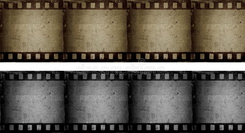 Filmstrips de Grunge ilustração stock