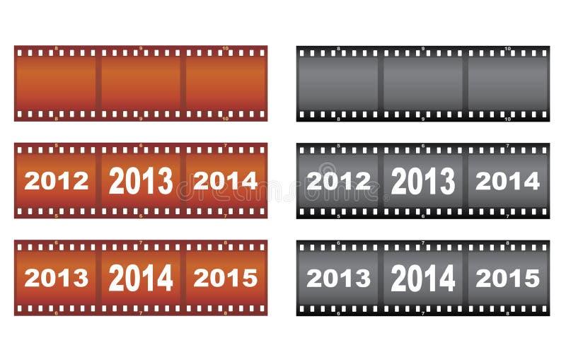 Filmstrips Dell Nuovo Anno Immagini Stock Libere da Diritti