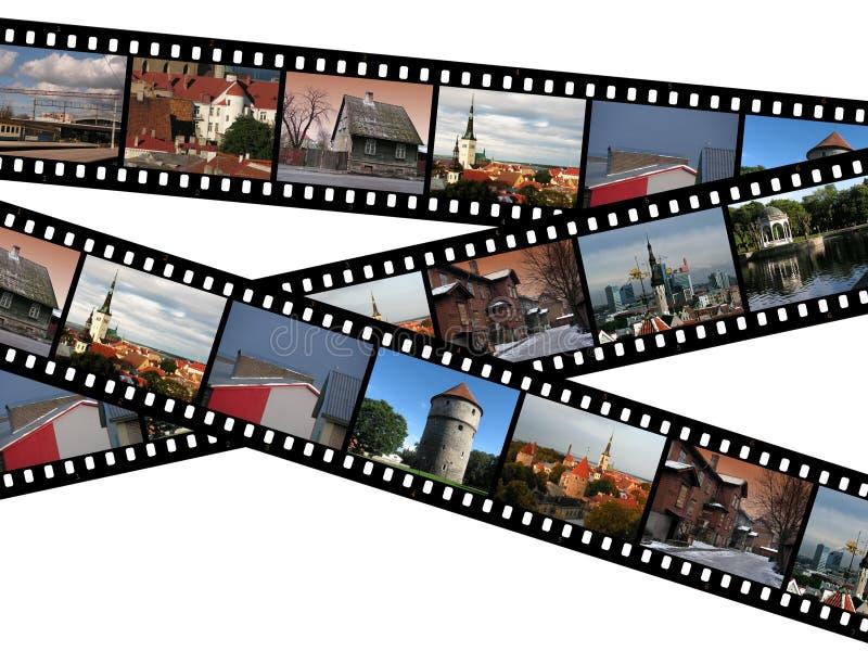 Filmstrips di Tallinn, Estonia immagini stock