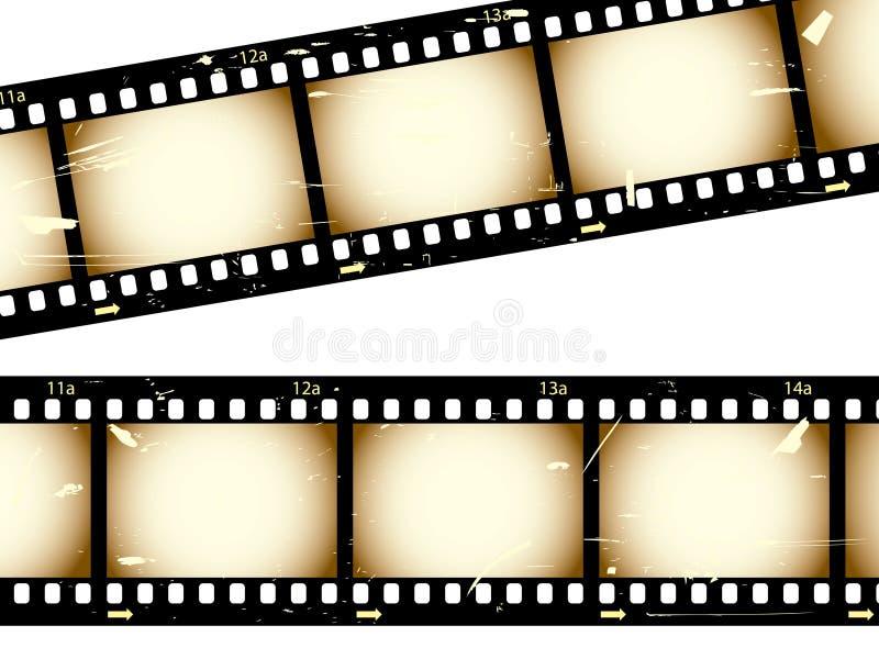 filmstrips grunge απεικόνιση αποθεμάτων