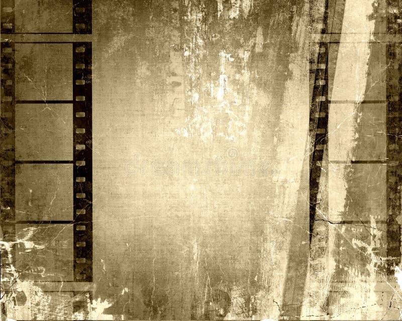 Filmstrips Grunge royalty illustrazione gratis