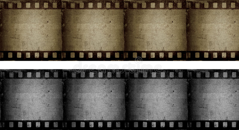 Filmstrips grunges illustration stock