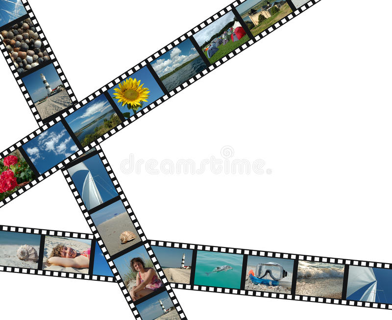 Download Filmstrips With Summer Vacation Photos Stock Image - Image: 11151891