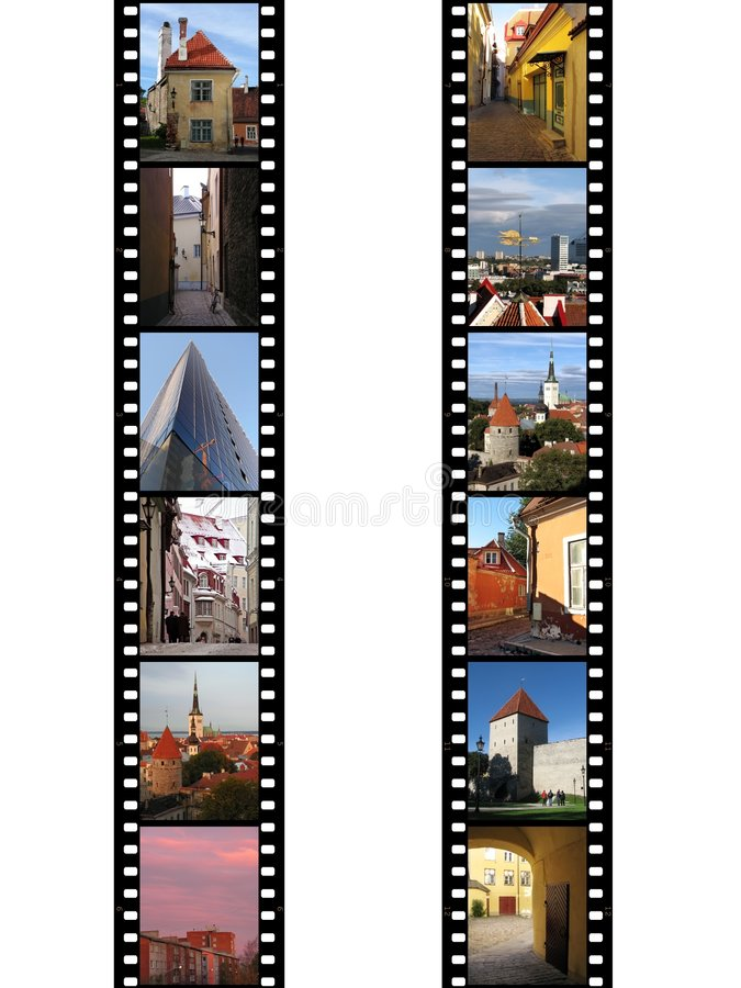 Filmstrips of Tallin royalty free stock images