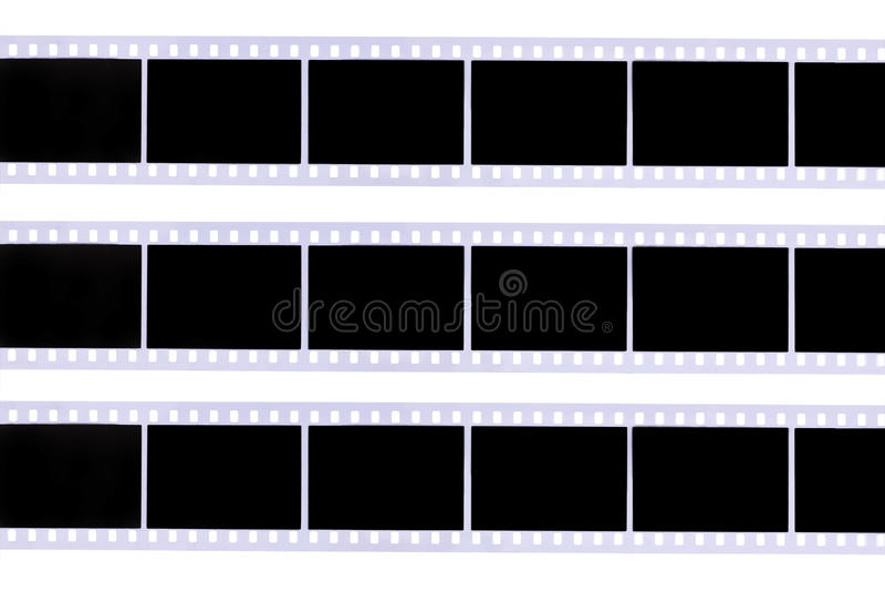 Filmstroken stock foto's