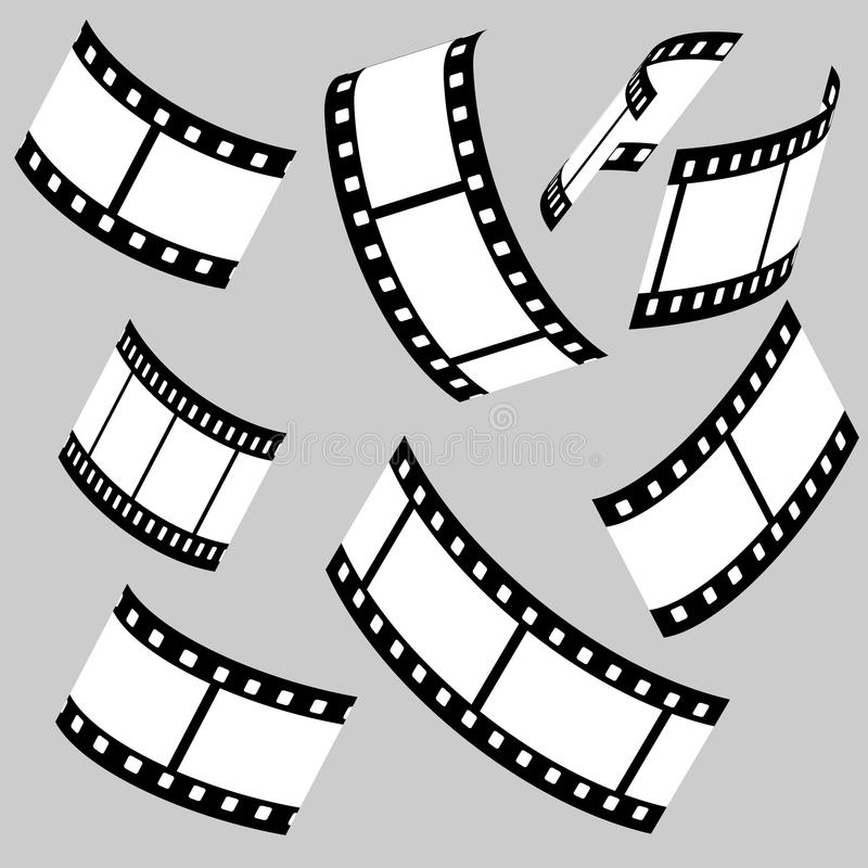 Filmstroken royalty-vrije illustratie