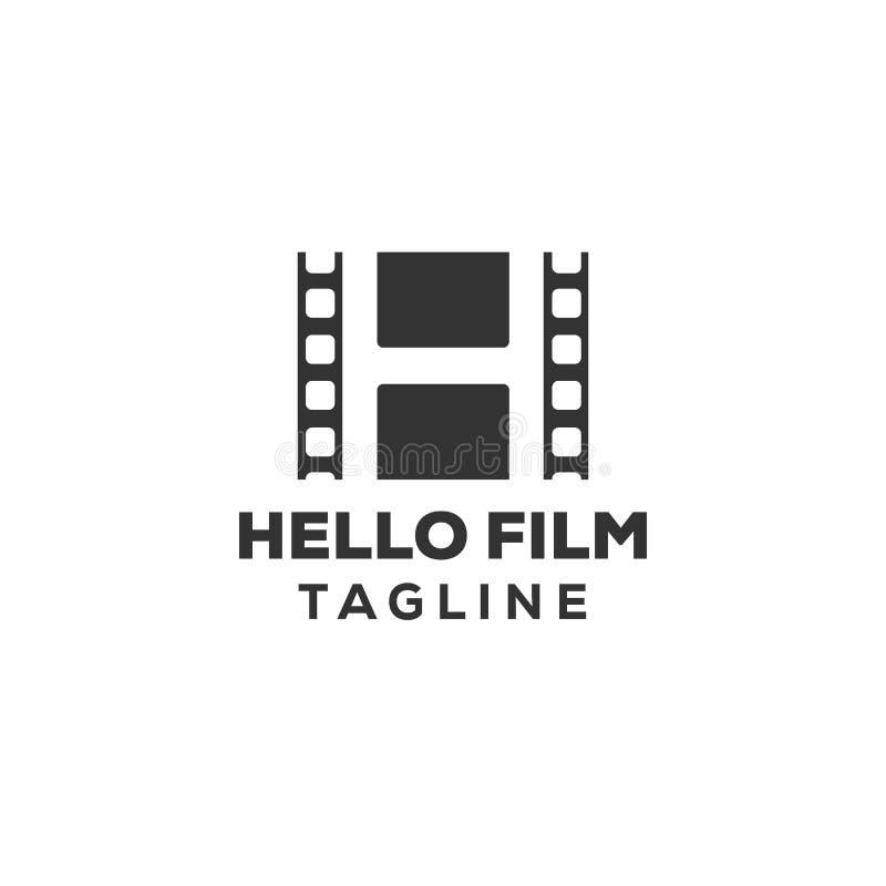 Filmstrook, eenvoudig conceptueel embleem Vector illustratie vector illustratie