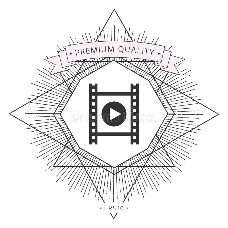 Filmstrook met spel vector illustratie