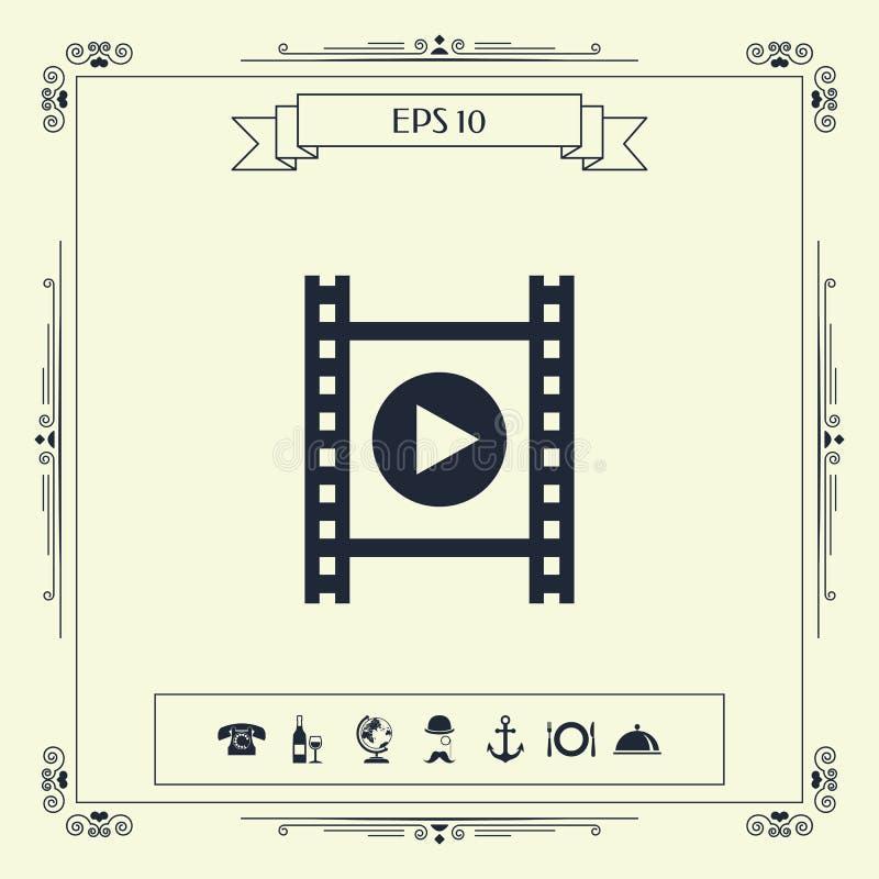 Filmstrook met spel royalty-vrije illustratie