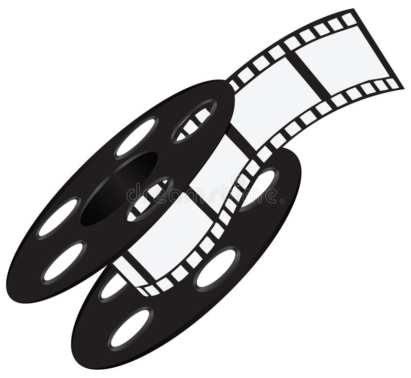 Filmstrook op de spoel stock illustratie