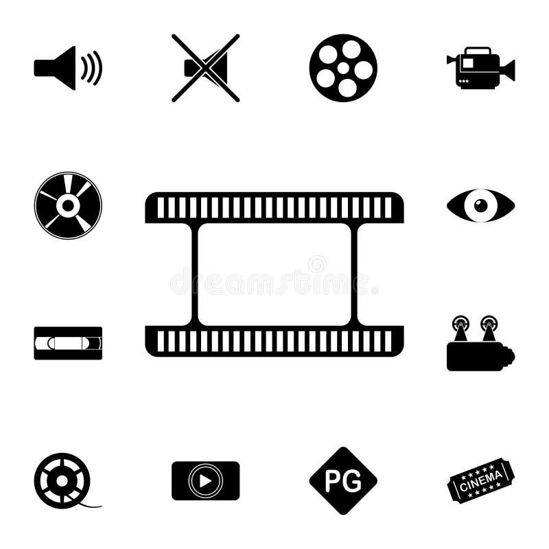 Filmsymbol Detaljerad uppsättning av biosymboler Högvärdig kvalitets- symbol för grafisk design En av samlingssymbolerna för webs royaltyfri illustrationer