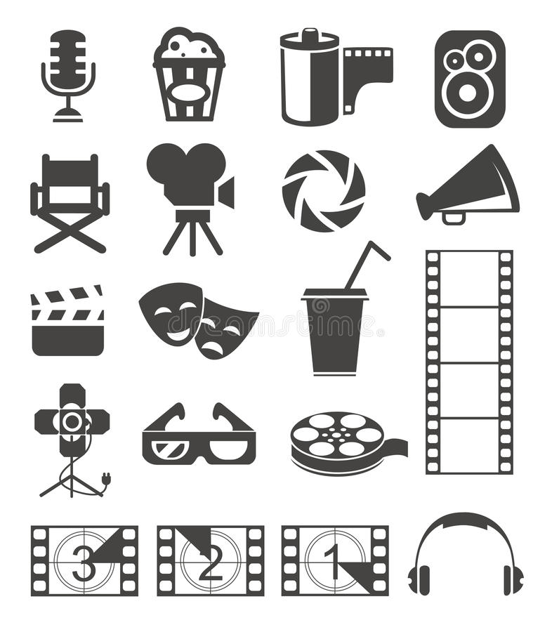 Filmsymboler stock illustrationer