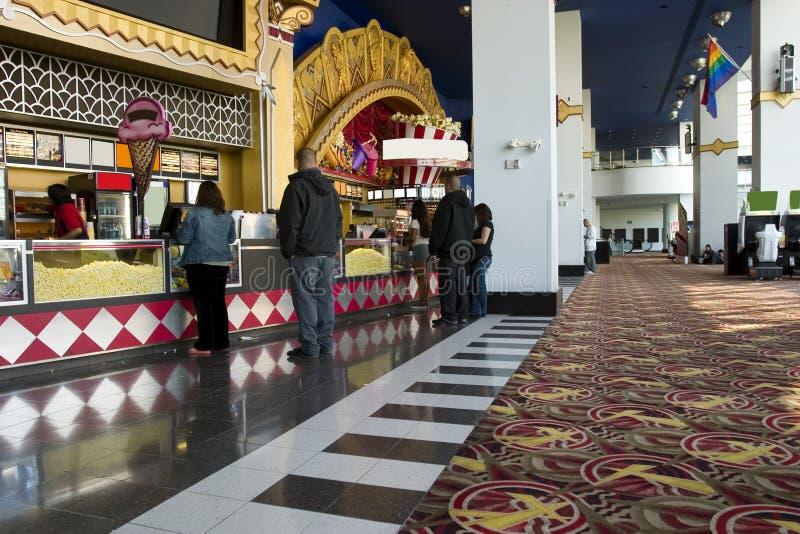Filmtheater Nahrungsmittelstab lizenzfreies stockbild