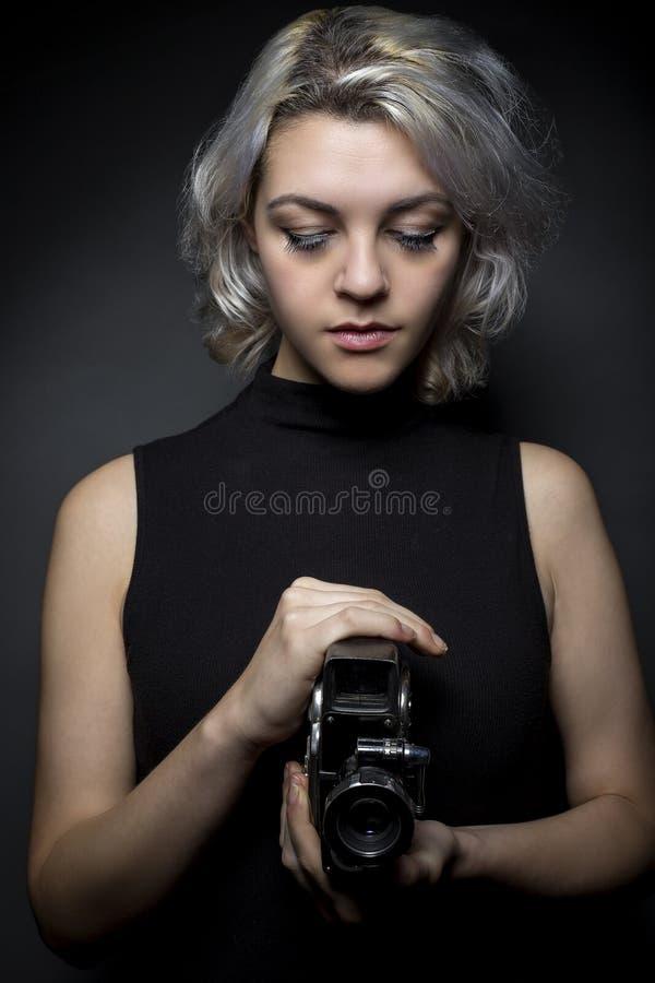 Filmtillverkare eller innerfält royaltyfria foton