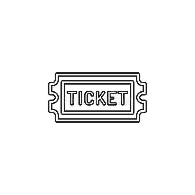 Filmu bilet wektor Przyznaje jeden, wst?p przepustka ilustracji