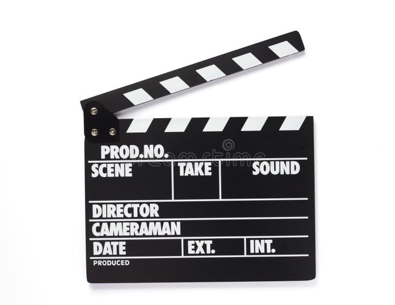 Filmu clapper deska na białym tle obraz stock