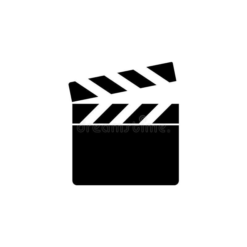 Filmu clapperboard Ekranowa akcji deska, kinematografia wektor Filmu clapperboard royalty ilustracja