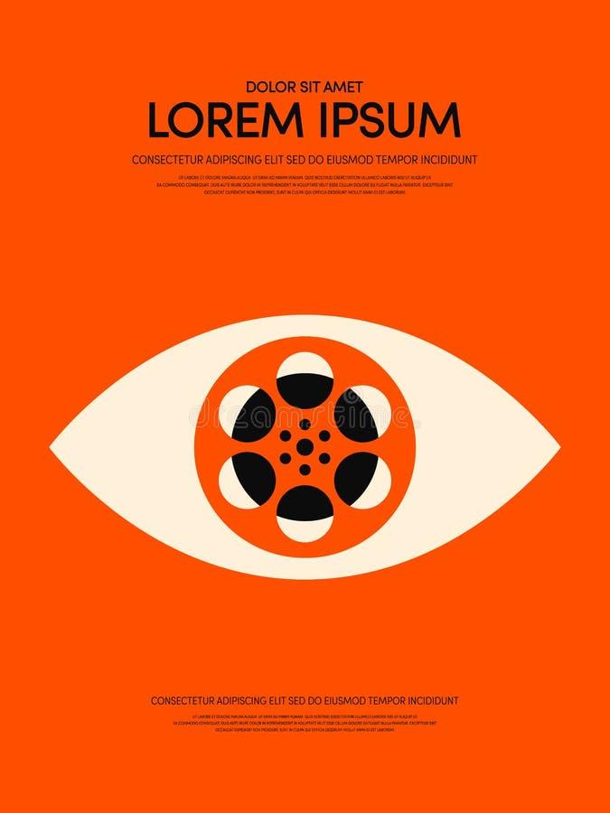Filmu i filmu rocznika plakata nowożytny retro tło ilustracja wektor