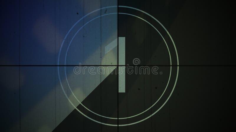 Filmweinlesecountdown Nr. 1 ein Hintergrund lizenzfreies stockfoto