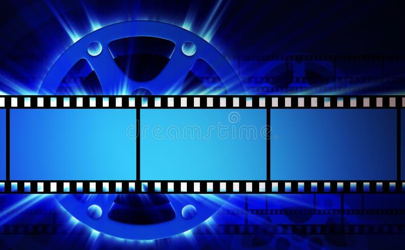 Filmy i ekranowa rolka ilustracji