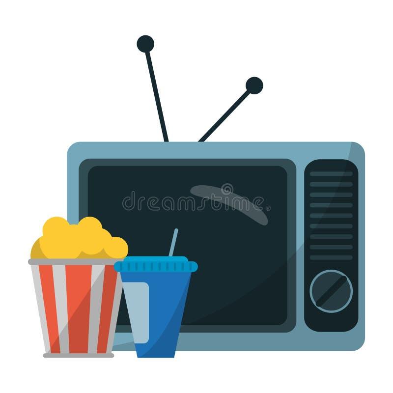 Filmy i telewizja ilustracja wektor