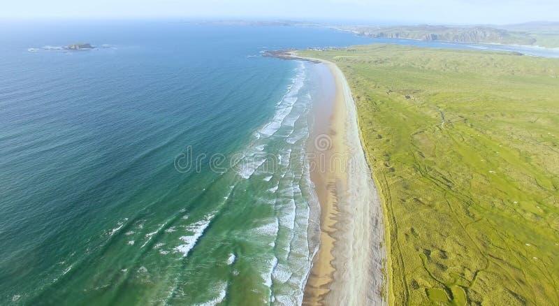 Filo Co della spiaggia di Ballyliffin Il Donegal Irlanda fotografie stock