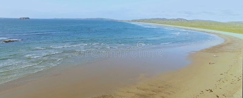 Filo Co della spiaggia di Ballyliffin Il Donegal Irlanda immagine stock