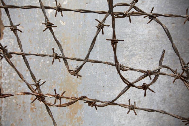Filo contro la parete nella prigione fotografia stock libera da diritti