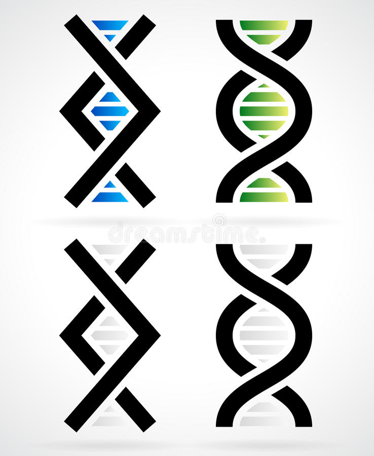 Filo del DNA, elica illustrazione di stock