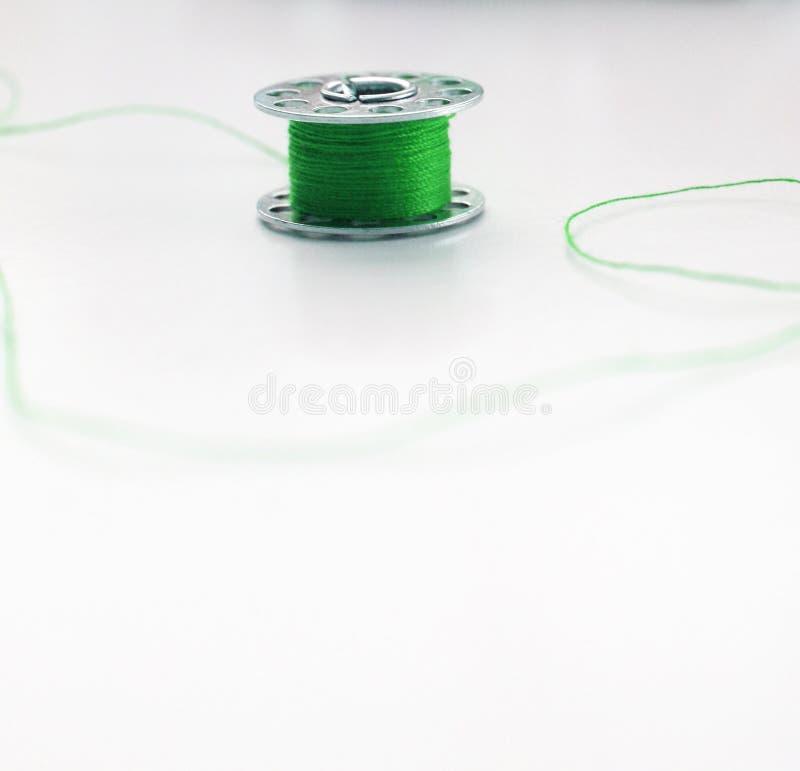 Filo verde di Quilters immagine stock