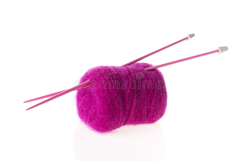 Filolet羊毛隔绝与轮幅 图库摄影