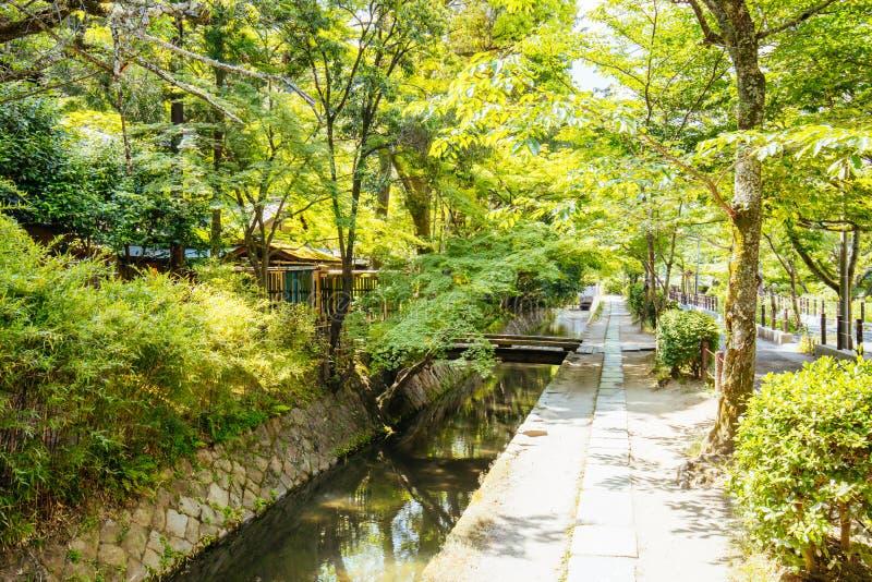 Filosofen går i Kyoto Japan royaltyfria foton