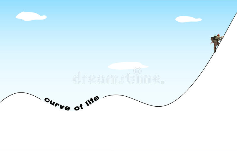 Filosofia da vida ilustração stock