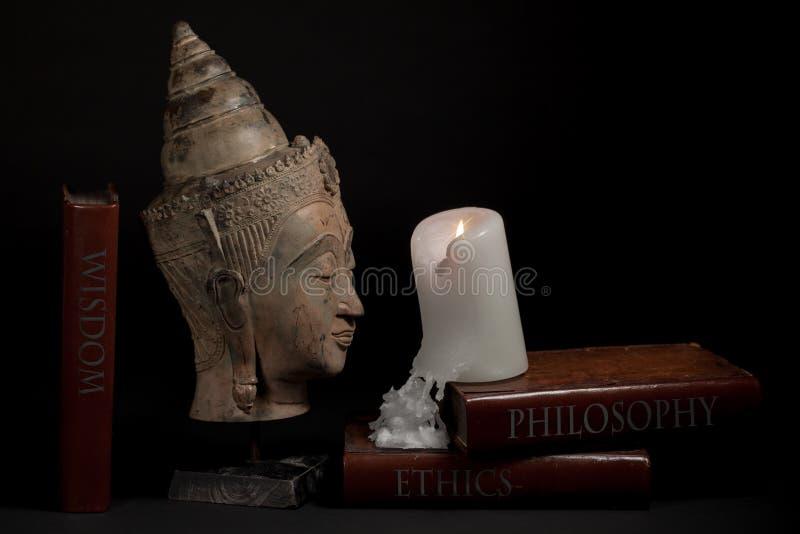 Filosofieethiek en wijsheids Geestelijke verlichting godsdienstig e stock afbeeldingen