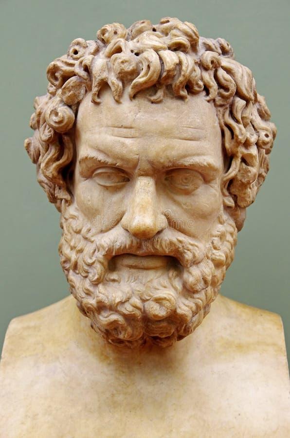 Filosofo greco Hippocrates fotografie stock