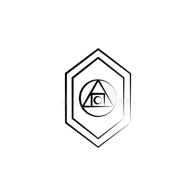 Filozof ikona Element szalenie nauki ikona dla mobilnych pojęcia i sieci apps Ręka rysująca filozof ikona może używać dla sieci a ilustracji