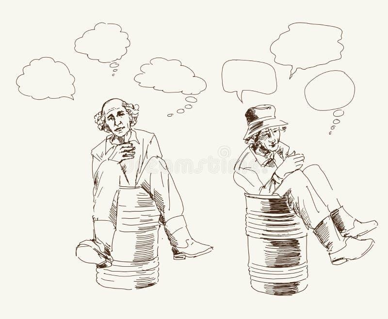 Filozof w baryłce ilustracji