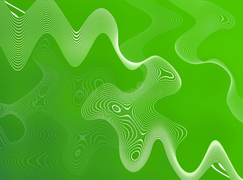 Fils abstraits verts illustration de vecteur