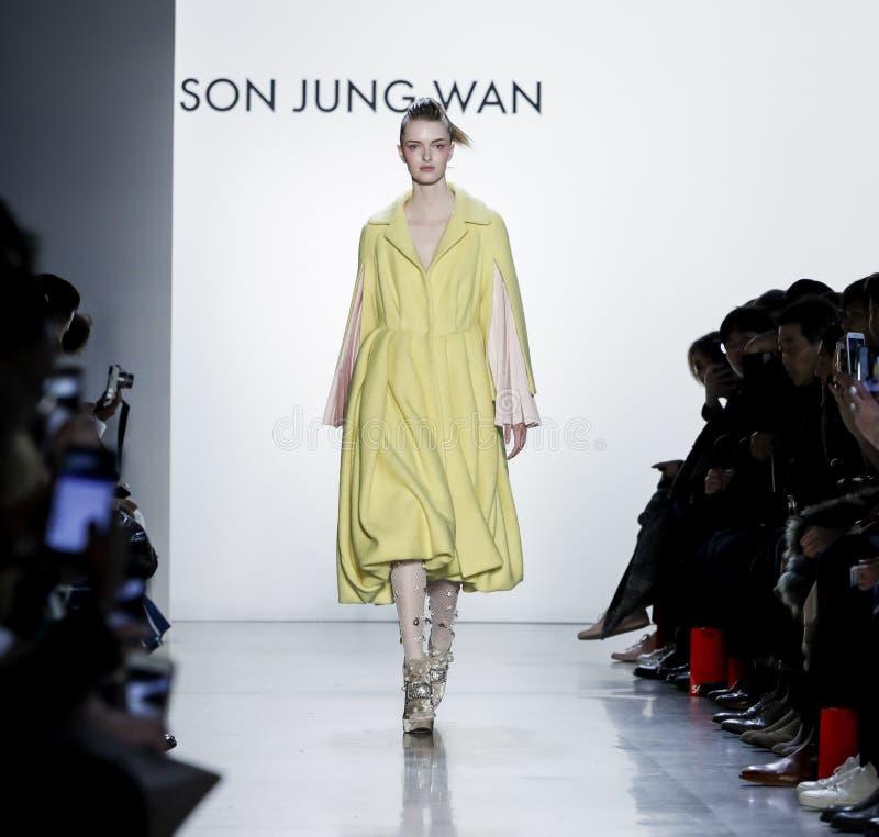 Fils Jung Wan FW18 photos stock