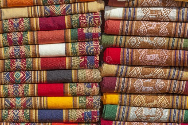 Filtar av andean färger. arkivfoto
