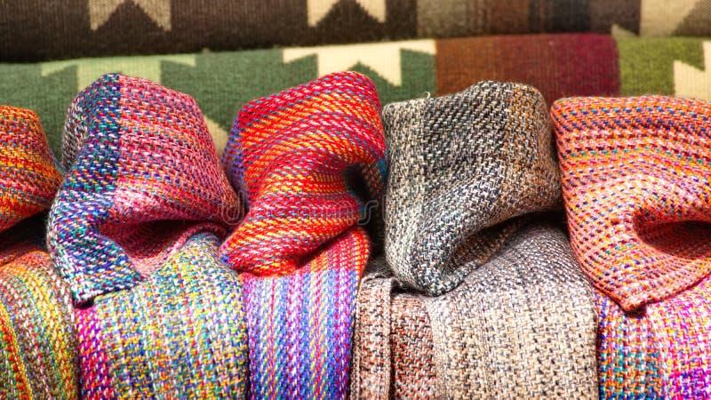 Filtar och scarves arkivbilder