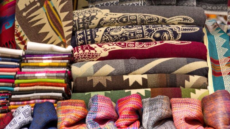 Filtar och scarves royaltyfria bilder