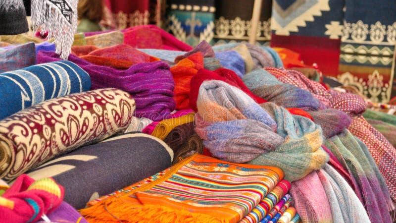 Filtar och scarves royaltyfri bild